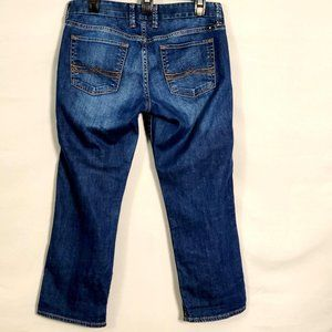 Lucky Crop Jeans 4 27 Mid Rise Straight Dark Wash